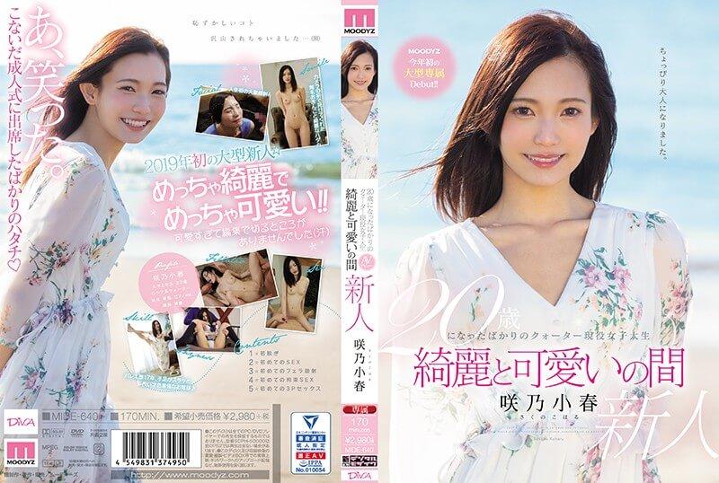 20歳になったばかりのクォーター現役女子大生 綺麗と可愛いの間 사쿠노 코하루 (Koharu Sakuno . 咲乃小春)